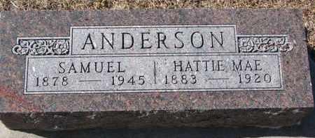 ANDERSON, HATTIE MAE - Cuming County, Nebraska | HATTIE MAE ANDERSON - Nebraska Gravestone Photos