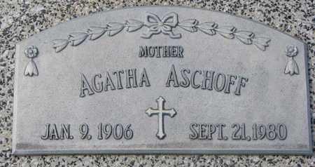 ASCHOFF, AGATHA - Cuming County, Nebraska | AGATHA ASCHOFF - Nebraska Gravestone Photos