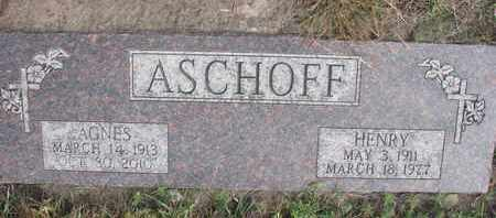 ASCHOFF, AGNES - Cuming County, Nebraska | AGNES ASCHOFF - Nebraska Gravestone Photos