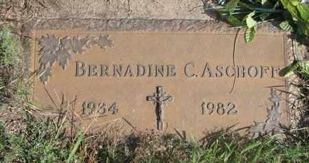 ASCHOFF, BERNADINE C. - Cuming County, Nebraska | BERNADINE C. ASCHOFF - Nebraska Gravestone Photos