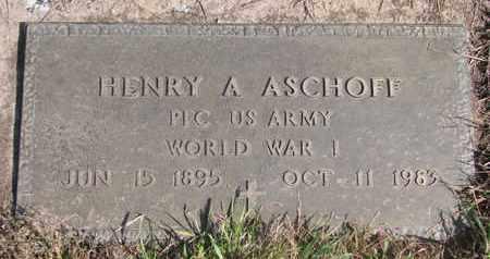ASCHOFF, HENRY A. - Cuming County, Nebraska | HENRY A. ASCHOFF - Nebraska Gravestone Photos