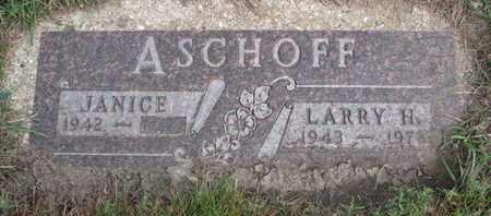 ASCHOFF, LARRY H. - Cuming County, Nebraska | LARRY H. ASCHOFF - Nebraska Gravestone Photos