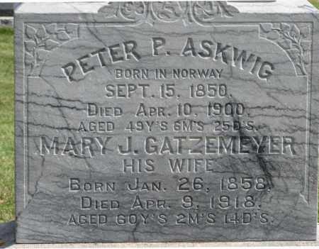 ASKWIG, PETER P. (CLOSE-UP) - Cuming County, Nebraska   PETER P. (CLOSE-UP) ASKWIG - Nebraska Gravestone Photos