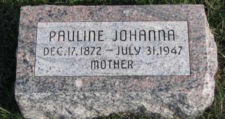 BAEHR, PAULINE JOHANNA - Cuming County, Nebraska | PAULINE JOHANNA BAEHR - Nebraska Gravestone Photos