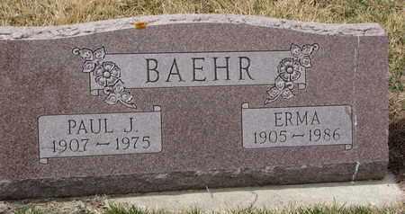 BAEHR, ERMA - Cuming County, Nebraska | ERMA BAEHR - Nebraska Gravestone Photos