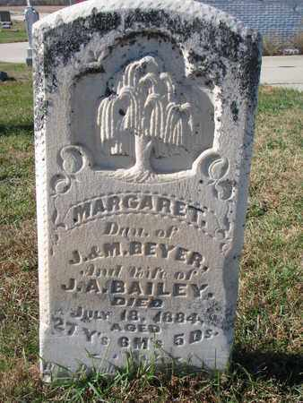 BAILEY, MARGARET - Cuming County, Nebraska | MARGARET BAILEY - Nebraska Gravestone Photos