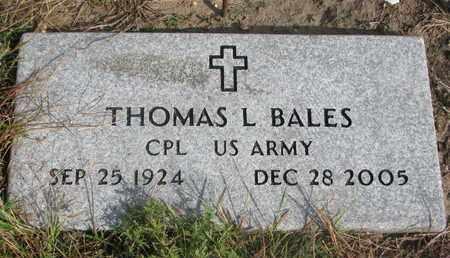 BALES, THOMAS L. - Cuming County, Nebraska | THOMAS L. BALES - Nebraska Gravestone Photos