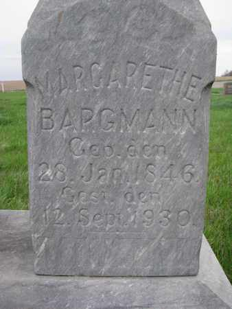 BARGMANN, MARGARETHE (CLOSE UP) - Cuming County, Nebraska | MARGARETHE (CLOSE UP) BARGMANN - Nebraska Gravestone Photos
