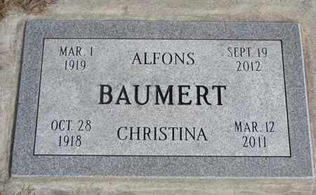 BAUMERT, ALFONS - Cuming County, Nebraska | ALFONS BAUMERT - Nebraska Gravestone Photos
