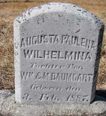BAUMGART, AUGUSTA PAULENA - Cuming County, Nebraska | AUGUSTA PAULENA BAUMGART - Nebraska Gravestone Photos
