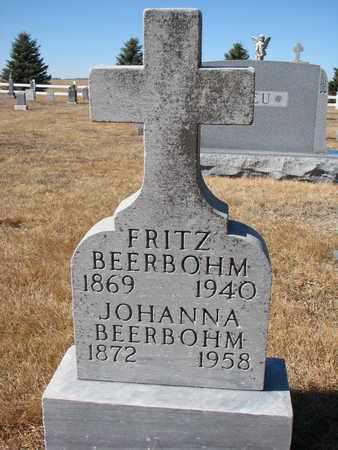 BEERBOHM, JOHANNA - Cuming County, Nebraska | JOHANNA BEERBOHM - Nebraska Gravestone Photos