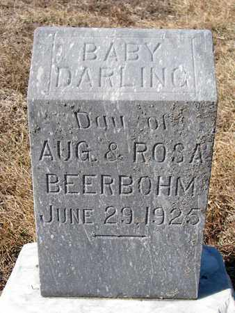 BEERBOHM, (INFANT DAUGHTER) - Cuming County, Nebraska | (INFANT DAUGHTER) BEERBOHM - Nebraska Gravestone Photos