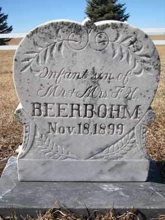 BEERBOHM, (INFANT SON) - Cuming County, Nebraska | (INFANT SON) BEERBOHM - Nebraska Gravestone Photos