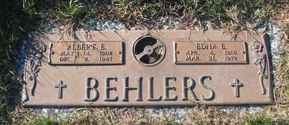BEHLERS, ALBERT E. - Cuming County, Nebraska   ALBERT E. BEHLERS - Nebraska Gravestone Photos