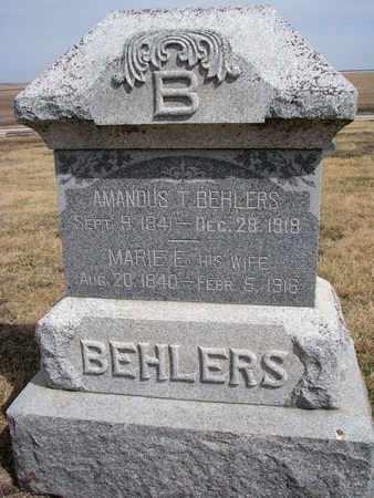 BEHLERS, MARIE E. - Cuming County, Nebraska | MARIE E. BEHLERS - Nebraska Gravestone Photos