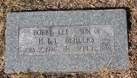 BEHLERS, BOBBY LEE - Cuming County, Nebraska | BOBBY LEE BEHLERS - Nebraska Gravestone Photos