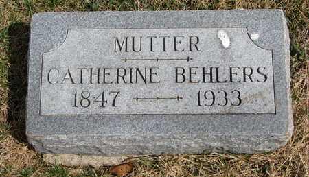 BEHLERS, CATHERINE - Cuming County, Nebraska | CATHERINE BEHLERS - Nebraska Gravestone Photos