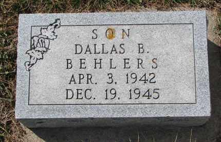 BEHLERS, DALLAS B. - Cuming County, Nebraska | DALLAS B. BEHLERS - Nebraska Gravestone Photos