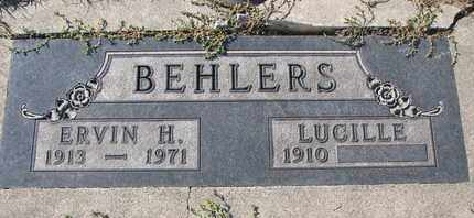 BEHLERS, ERVIN H. - Cuming County, Nebraska | ERVIN H. BEHLERS - Nebraska Gravestone Photos