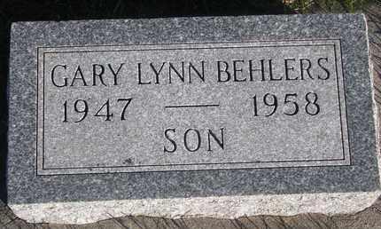 BEHLERS, GARY LYNN - Cuming County, Nebraska | GARY LYNN BEHLERS - Nebraska Gravestone Photos