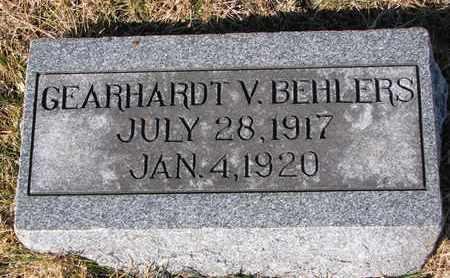 BEHLERS, GEARHARDT V. - Cuming County, Nebraska   GEARHARDT V. BEHLERS - Nebraska Gravestone Photos