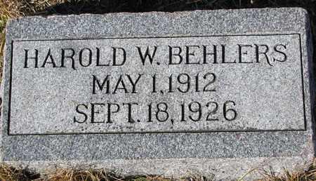 BEHLERS, HAROLD W. - Cuming County, Nebraska | HAROLD W. BEHLERS - Nebraska Gravestone Photos