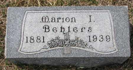 BEHLERS, MARION I. - Cuming County, Nebraska | MARION I. BEHLERS - Nebraska Gravestone Photos