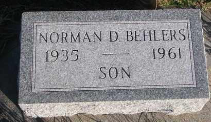 BEHLERS, NORMAN D. - Cuming County, Nebraska | NORMAN D. BEHLERS - Nebraska Gravestone Photos