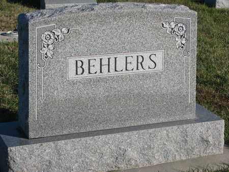 BEHLERS, (FAMILY MONUMENT) - Cuming County, Nebraska | (FAMILY MONUMENT) BEHLERS - Nebraska Gravestone Photos