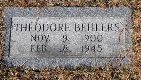 BEHLERS, THEODORE - Cuming County, Nebraska   THEODORE BEHLERS - Nebraska Gravestone Photos