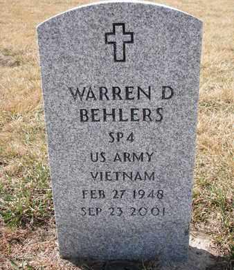 BEHLERS, WARREN D. - Cuming County, Nebraska | WARREN D. BEHLERS - Nebraska Gravestone Photos