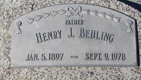 BEHLING, HENRY J. - Cuming County, Nebraska | HENRY J. BEHLING - Nebraska Gravestone Photos