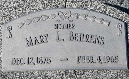 BEHRENS, MARY L. - Cuming County, Nebraska | MARY L. BEHRENS - Nebraska Gravestone Photos