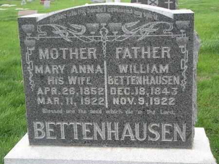 BETTENHAUSEN, WILLIAM - Cuming County, Nebraska | WILLIAM BETTENHAUSEN - Nebraska Gravestone Photos