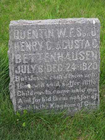 BETTENHAUSEN, QUENTIN W.F.S. - Cuming County, Nebraska | QUENTIN W.F.S. BETTENHAUSEN - Nebraska Gravestone Photos