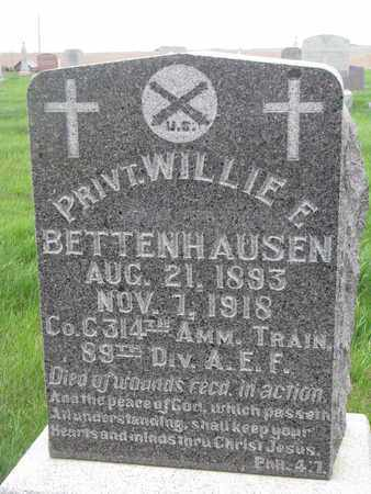 BETTENHAUSEN, WILLIE E. - Cuming County, Nebraska | WILLIE E. BETTENHAUSEN - Nebraska Gravestone Photos