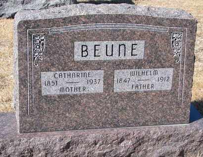 BEUNE, WILHELM - Cuming County, Nebraska | WILHELM BEUNE - Nebraska Gravestone Photos