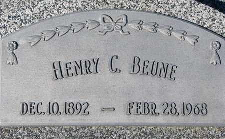 BEUNE, HENRY C. - Cuming County, Nebraska   HENRY C. BEUNE - Nebraska Gravestone Photos