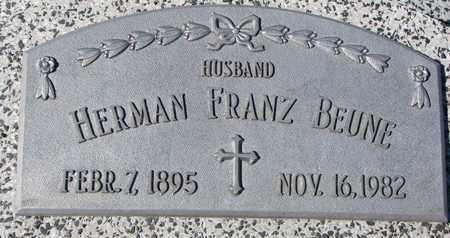 BEUNE, HERMAN FRANZ - Cuming County, Nebraska | HERMAN FRANZ BEUNE - Nebraska Gravestone Photos