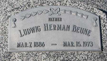 BEUNE, LUDWIG HERMAN - Cuming County, Nebraska | LUDWIG HERMAN BEUNE - Nebraska Gravestone Photos
