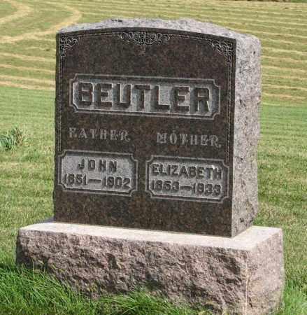 BEUTLER, ELIZABETH - Cuming County, Nebraska   ELIZABETH BEUTLER - Nebraska Gravestone Photos