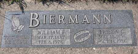 BIERMANN, FRIEDA C. - Cuming County, Nebraska   FRIEDA C. BIERMANN - Nebraska Gravestone Photos