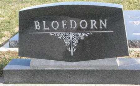 BLOEDORN, (FAMILY MONUMENT) - Cuming County, Nebraska | (FAMILY MONUMENT) BLOEDORN - Nebraska Gravestone Photos