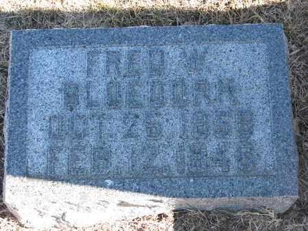 BLOEDORN, FRED W. - Cuming County, Nebraska   FRED W. BLOEDORN - Nebraska Gravestone Photos