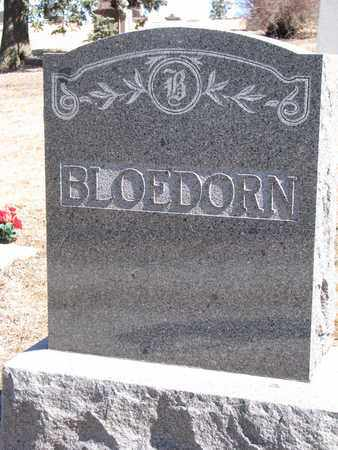 BLOEDORN, (FAMILY MONUMENT) - Cuming County, Nebraska | (FAMILY MONUMENT) BLOEDORN - Nebraska Gravestone Photos