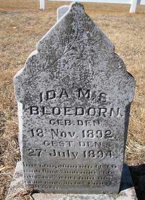 BLOEDORN, IDA M.S. - Cuming County, Nebraska | IDA M.S. BLOEDORN - Nebraska Gravestone Photos