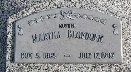 BLOEDORN, MARTHA - Cuming County, Nebraska | MARTHA BLOEDORN - Nebraska Gravestone Photos
