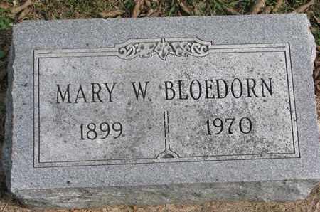 BLOEDORN, MARY W. - Cuming County, Nebraska | MARY W. BLOEDORN - Nebraska Gravestone Photos