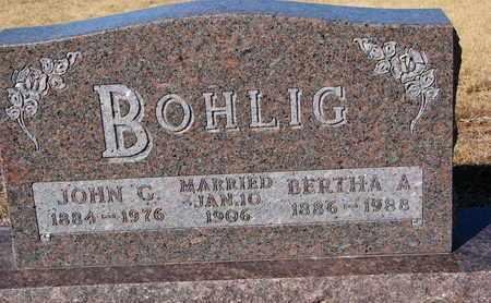 BOHLIG, BERTHA A. - Cuming County, Nebraska | BERTHA A. BOHLIG - Nebraska Gravestone Photos