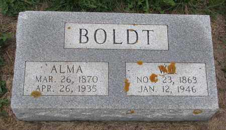 BOLDT, ALMA - Cuming County, Nebraska | ALMA BOLDT - Nebraska Gravestone Photos